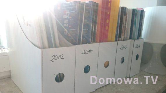 Organizery - mam gazety poukładane rocznikami