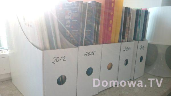 Organizery – mam gazety poukładane rocznikami
