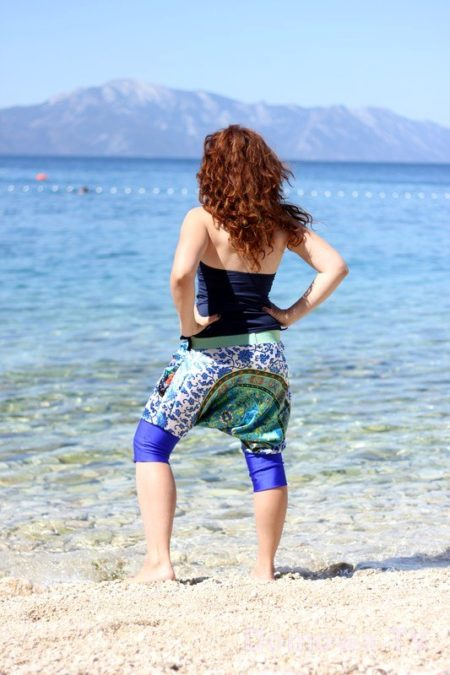 Spodnie alladynki w wersji krótkiej