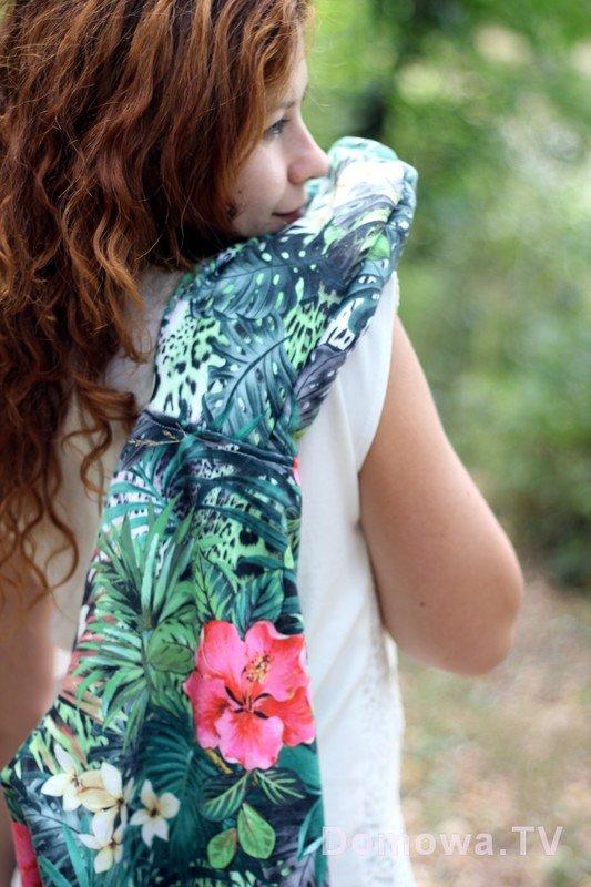 Bluza w hawajskie wzory
