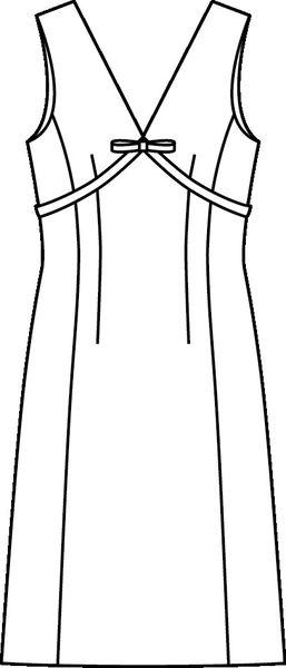 Tak wygląda krój tej sukienki - rysunek techniczny, Burda