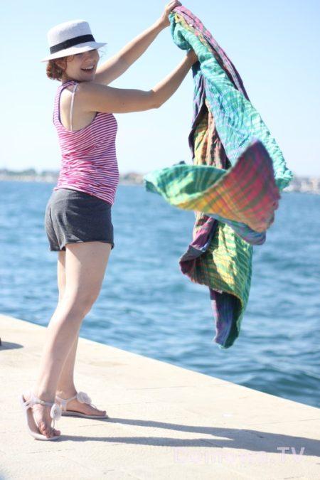 Takie wakacyjne :) z najpiękniejszą chustą