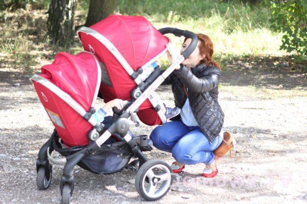 A tu wózek, który mogłam mieć przez jakiś czas dzięki uprzejmości Alicji