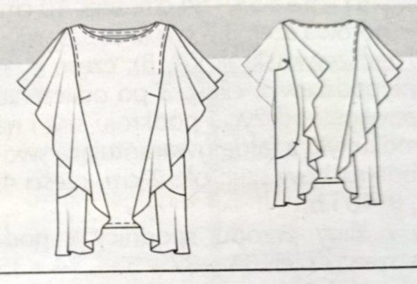Rysunek bluzki z Burdy