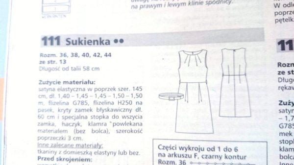Wykrój na bazie którego powstała spódnica