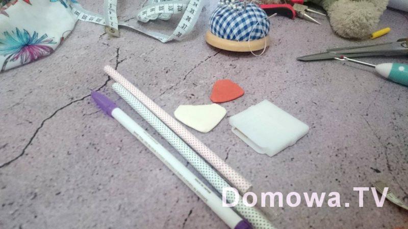 Znikopis, ołówki krawieckie, kreda, mydełka