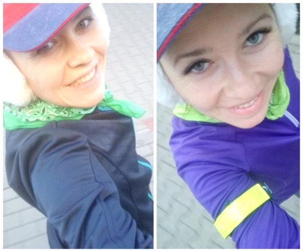 Takie poranne no make up :) z biegania. Lewo kilka dni temu, prawe – dzisiaj