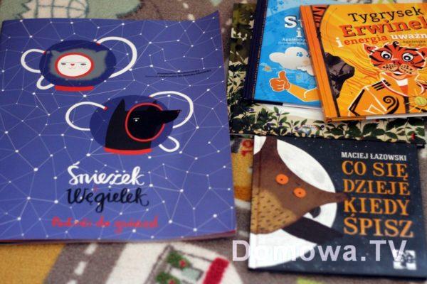 """Tutaj jeszcze zestawienie Śnieżka z innymi książkami """"normalnych"""" rozmiarów"""