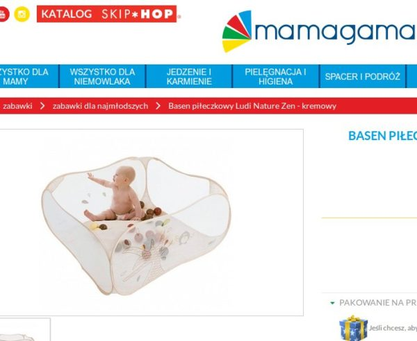 Basenik z kulkami w przystępnej cenie, foto: printscreen z mamagama.pl