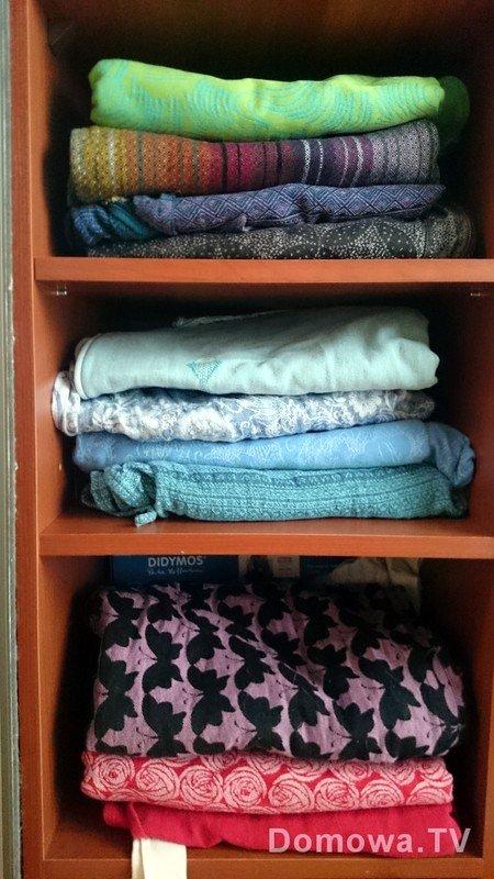 A to moja szafa, w której były chusty :)