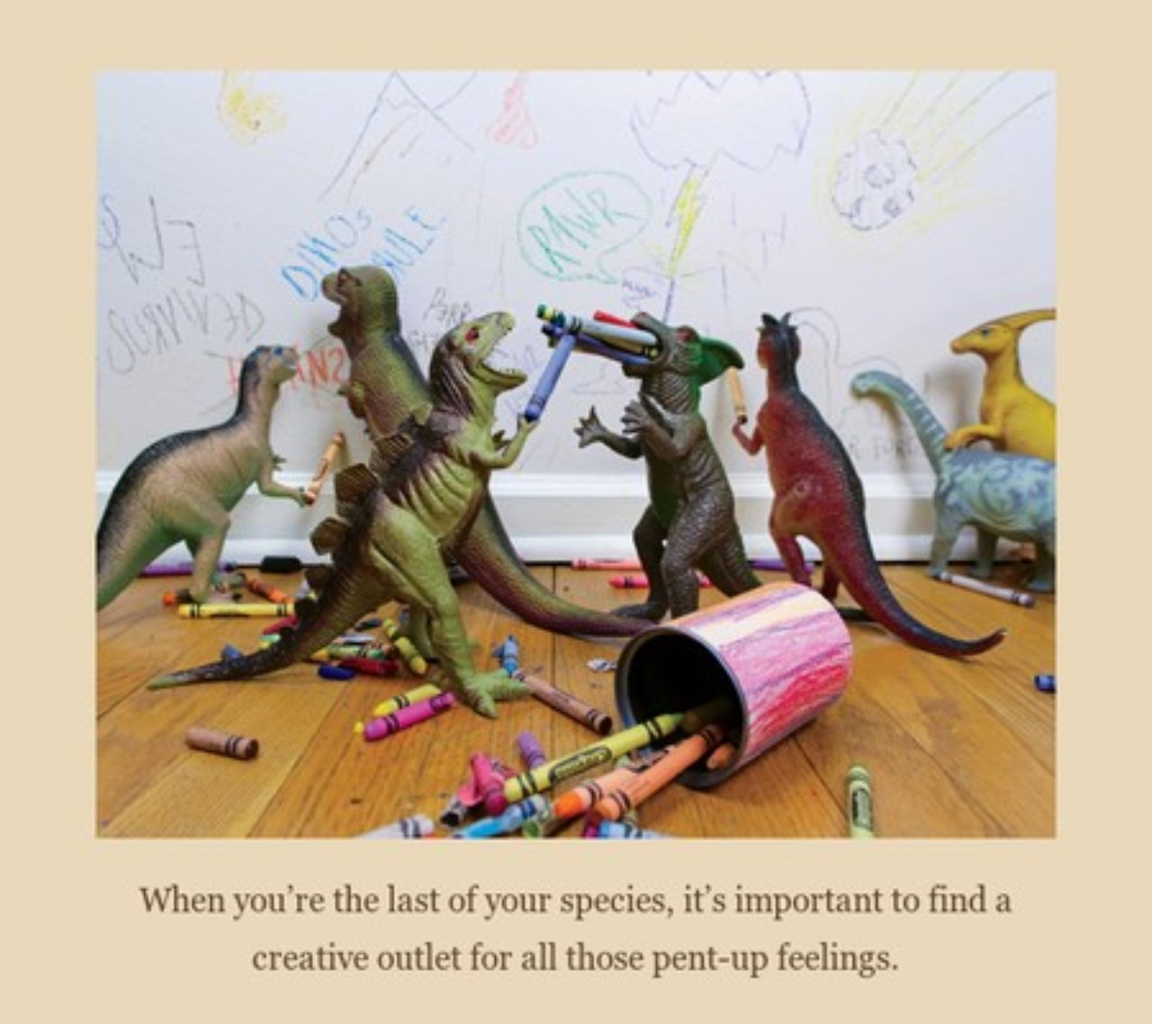 Dinovember zrzut z książki What the Dinosaurs Did Last Night: A Very Messy Adventure
