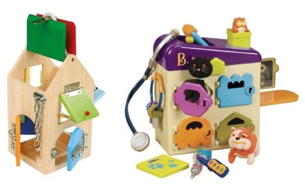 Zabawka z zamkami, kluczykami itd.