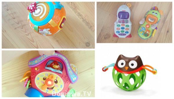 Grające zabawki, kolorowe. Bardzo fajny zegar, telefony też są niezłe