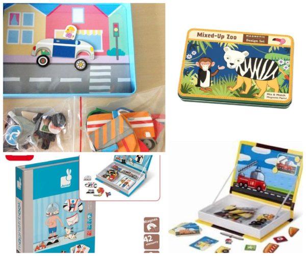 """Zabawki magnetyczne układanki, czyli układa się elementy """"w pudełku"""""""