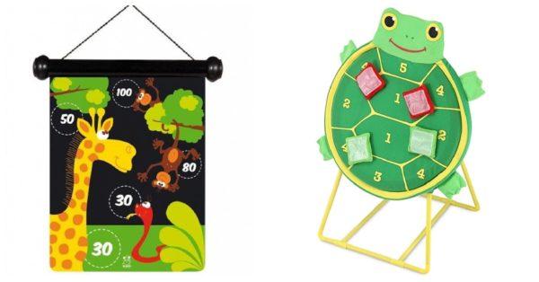 Rzutki :) po lewej to te magnetyczne, a po prawej nowa wersja takiej z piłkami na rzepy :))