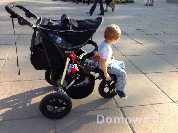 Moje pomysłowe dziecko zrobiło wózek 2w1 :)