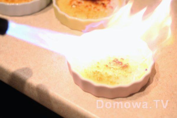 Sztuczne ognie? :) Nie! To creme brulee, o jakie to dobre!