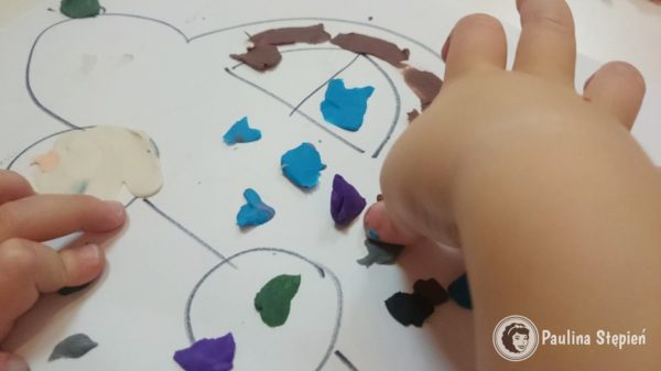 Rozcieranie plasteliną, czyli tworzenie super rysunków