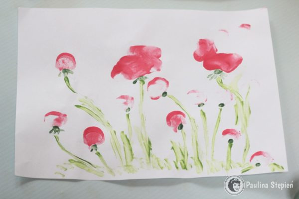 Paluszkowe kwiaty