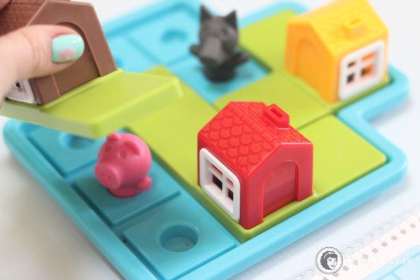 Tutaj rozgrywka nocna, czyli świnki chowamy w domkach