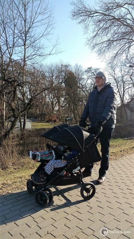Michał z wózkiem, 190 cm wzrostu