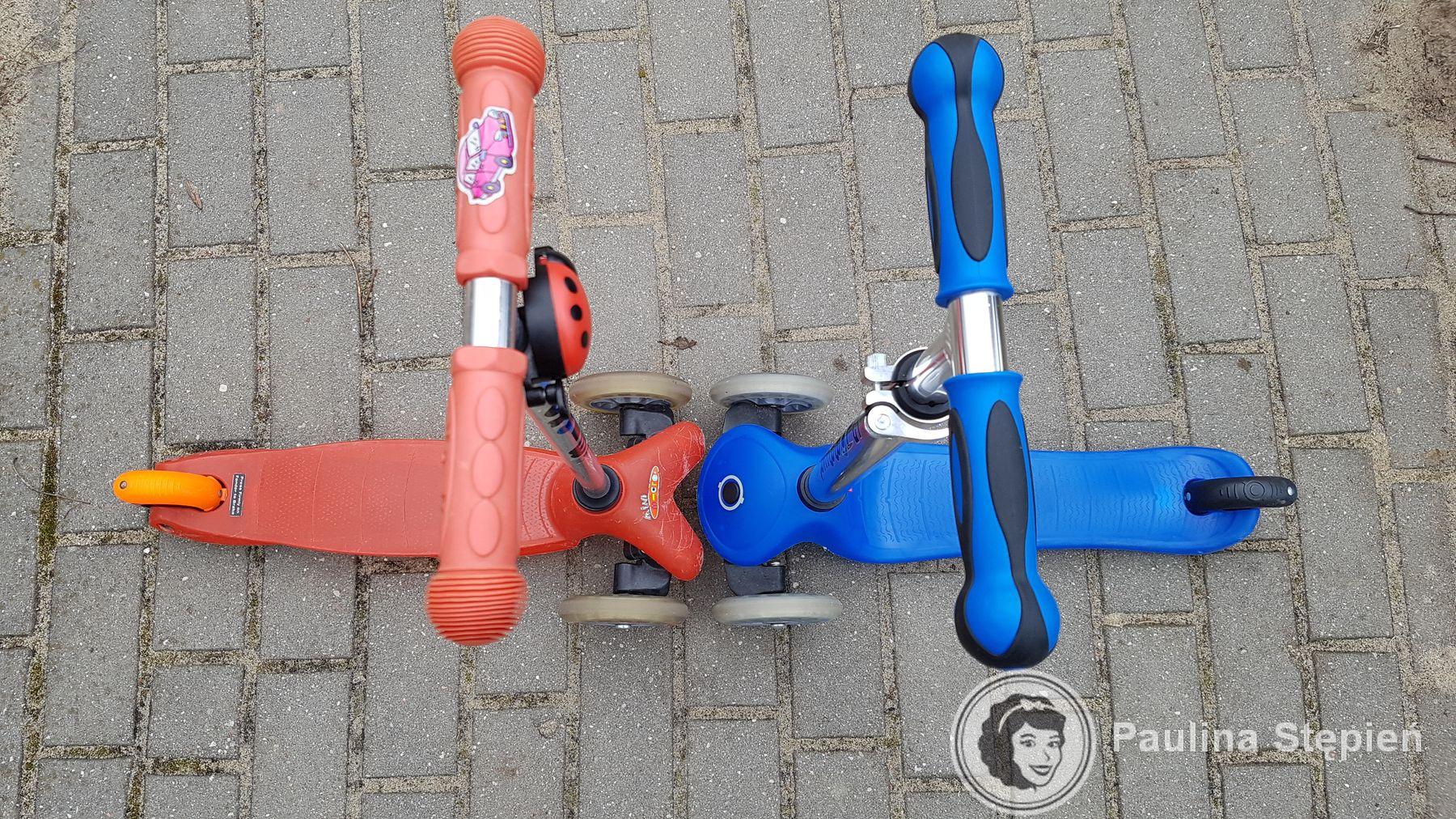 Czerwona to Mini Micro, niebieska Globber
