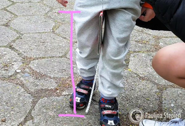 Mierzymy wysokość nóżki dziecka