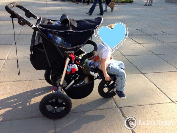 Dziecko ma własne zdanie na temat wózka pojedynczego