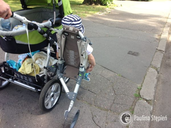 Dostawka do wózka, boczna