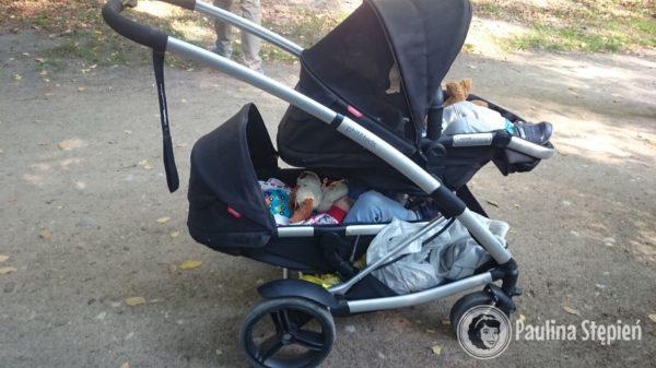Wózek jeden za drugim typu kompaktowego, tutaj Phil&Teds Promenade