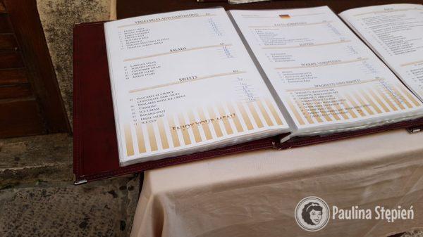 Przykładowe menu chorwackie, Omiś