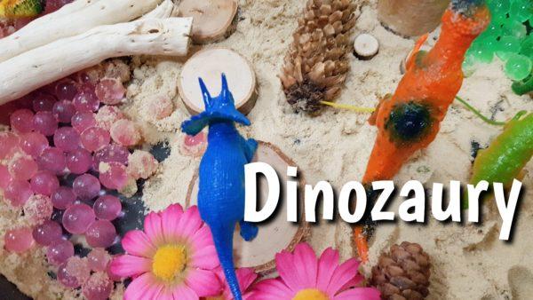 Kraina dinozaurów – sensoryczna zabawa dla dzieci