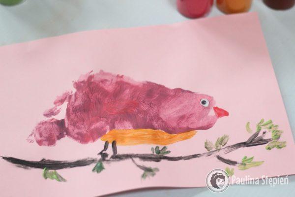 Kolorowy ptaszek (stópka)