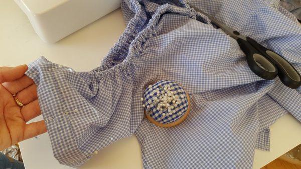 Szycie bluzki z koszuli