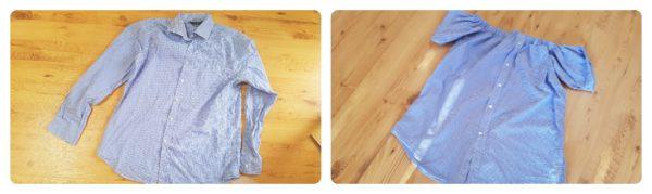 Koszula przed i po