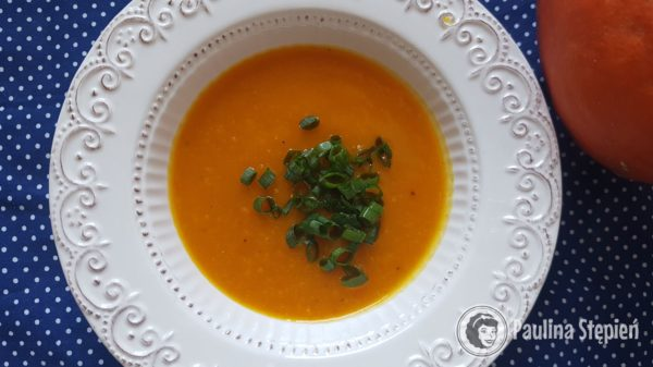 Przekąska, zupa dyniowa