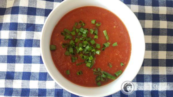 Obiad, zupa pomidorowa krem