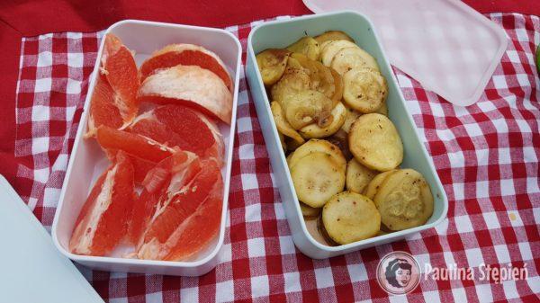 Przekąska: Cukinia, grapefruit