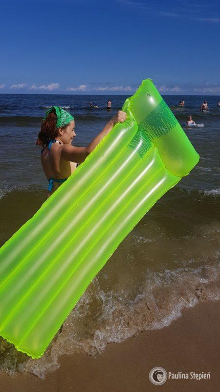 Słoneczna pogoda nad morzem :) w końcu nasz materac ma szansę być użyty