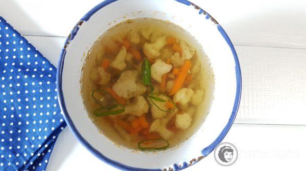 Podwieczorek 16, zupa kalafiorowa