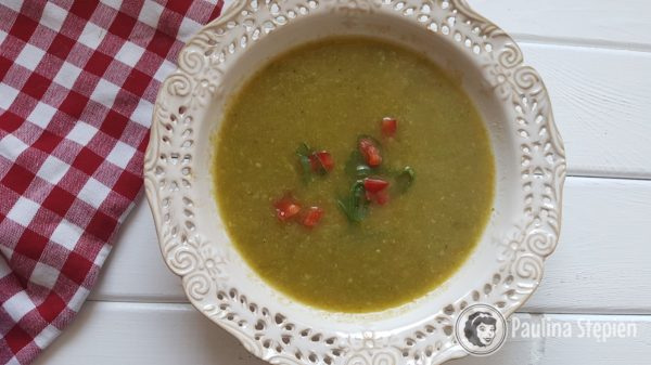 Przekąska, zupa krem z pora