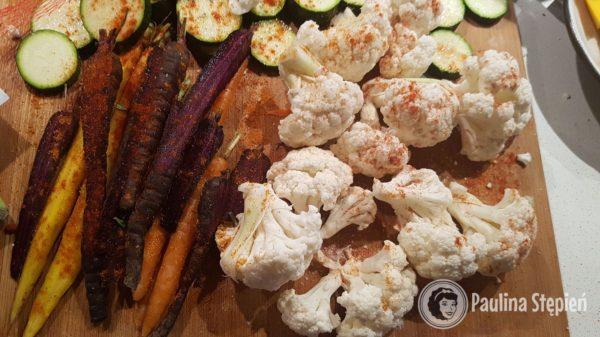 Kolacja 17, grillowane lub pieczone warzywa