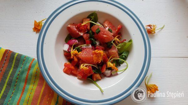 Przekąska 20, sałatka z grapefruita