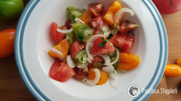 Kolacja 27, sałatka z pomidorów