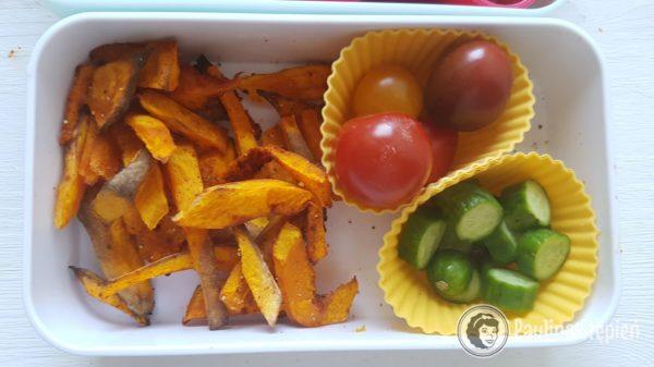 Przekąska 32, frytki z dyni i warzywa
