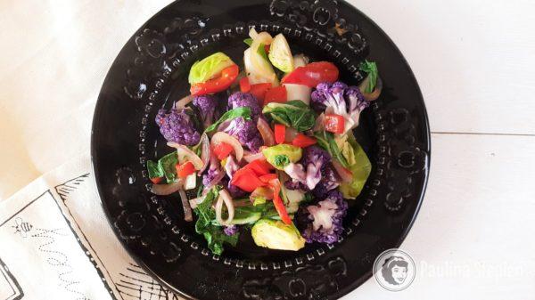 Obiad 35, warzywa z woka