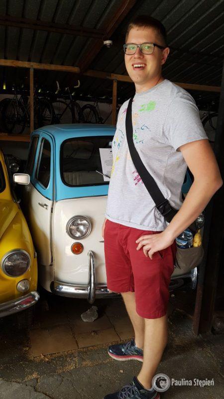 Mały włoski samochód