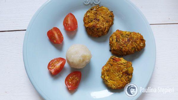 Obiad 2, pyza ziemniaczana :) kotlety warzywne