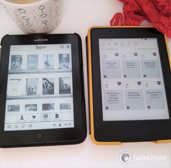 Po lewej inkBook, po prawej Kindle