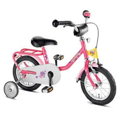 Rowerek z kółkami tutaj Puky z2 (może być bez kółek jako pierwszy rowerek po biegowym nawet dla mniejszego dziecka)